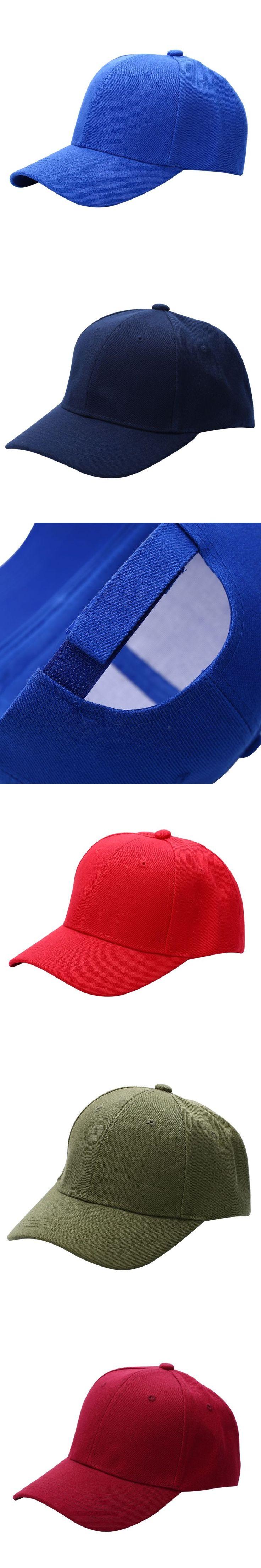 Men Women Plain Baseball Cap Unisex Curved Visor Hat Hip-Hop Adjustable Peaked Hat Visor Caps Solid Color H9