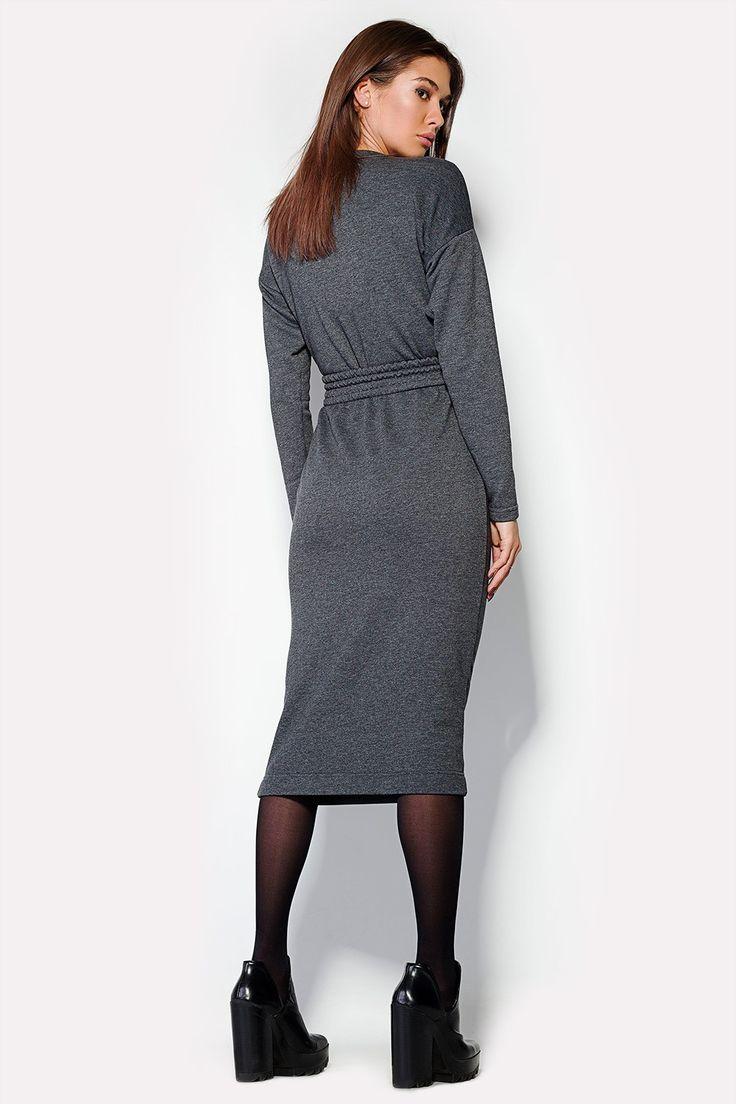 Выкройка серого платья
