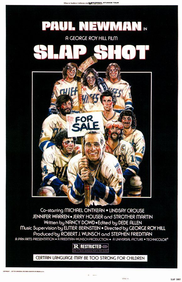 Slap Shot [1977] Comedy, Drama, Sport - Paul Newman, Jennifer Warren, Lindsay Crouse, Swoosie Kurtz, M. Emmet Walsh - A failing ice hockey team finds success using constant fighting and violence during games.