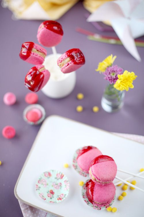 Macarons pommes d'amour
