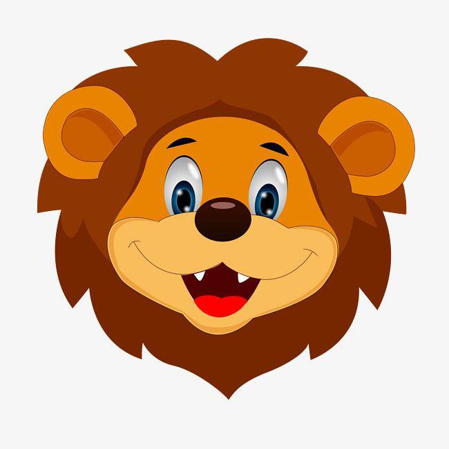 Brown Yellow Head Lion Tail Hair Cute Cartoon Hand Drawn Crown Right King Scepter Animal Illustration Totem Lion Cre Cartoon Lion Cartoon Lion