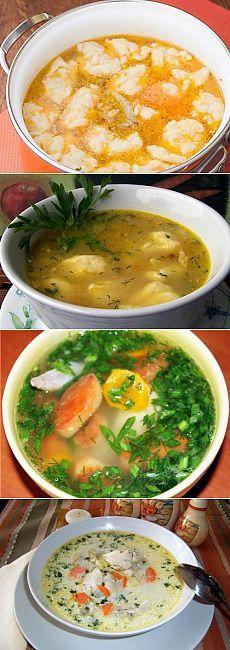 Куриные супы с галушками: основные рецепты / Простые рецепты