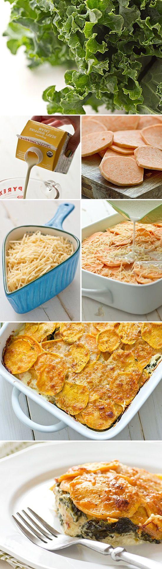 Sweet Potato & Kale Casserole | Recipe By Photo