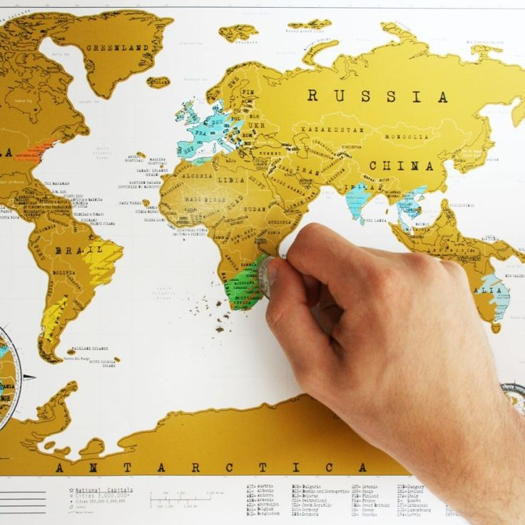Scratch Map Rubbel-Weltkarte zum Freirubbeln