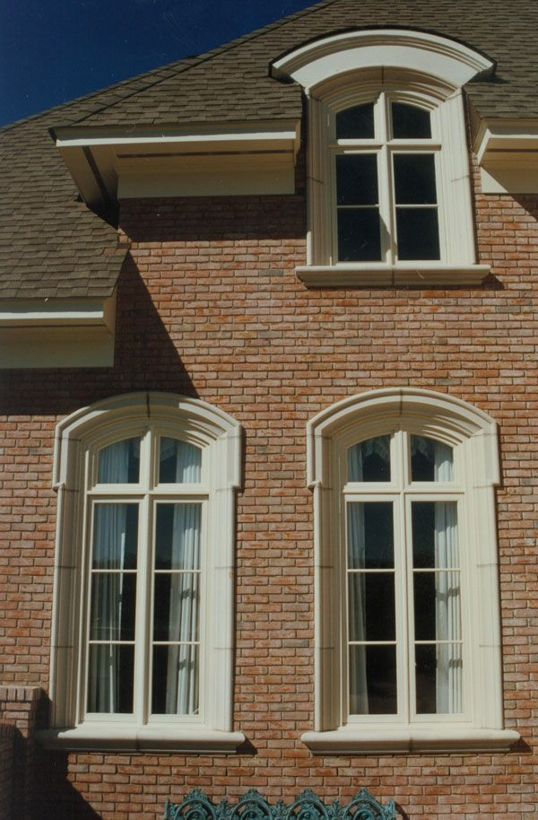 Two Different Cast Stone Window Surrounds Both Eyebrow