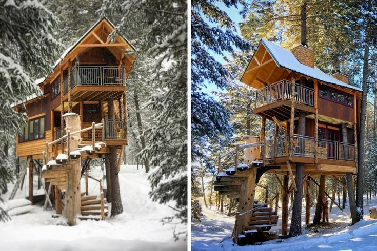 in Columbia Falls, US. FEATURED On Season 3, Episode 2 of the Treehouse Guys on DIY Network! Nestled on a private wooded 7 acres, this double decker treehouse is one of a kind and has luxury amenities. Enjoy a unforgettable stay in the master suite loft with a queen te...