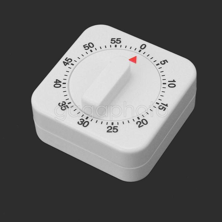 Kitchen Cooking Desktop Game Countdown 60 Minutes Timer Alarm Clock Mechanical