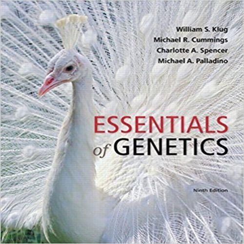 Essentials Of Genetics 9th Edition By Klug Cummings Spencer