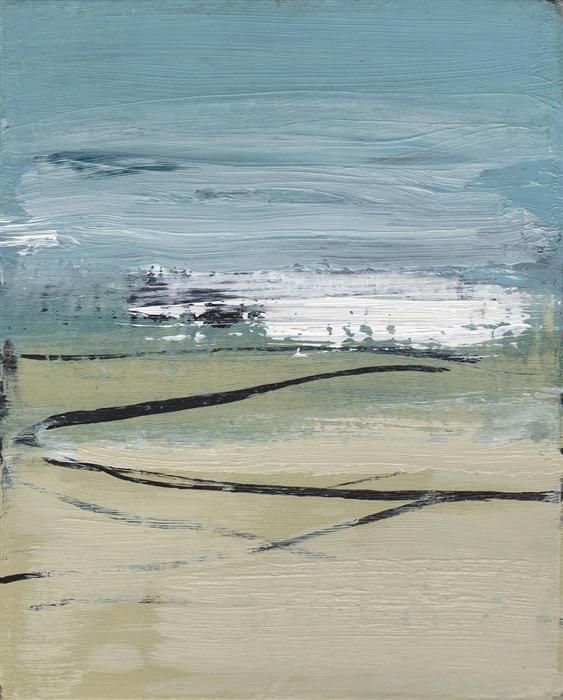 "Original art for sale at UGallery.com | Beach Drift #3 by Heather McAlpine | $300 | acrylic painting | 10"" h x 8"" w 