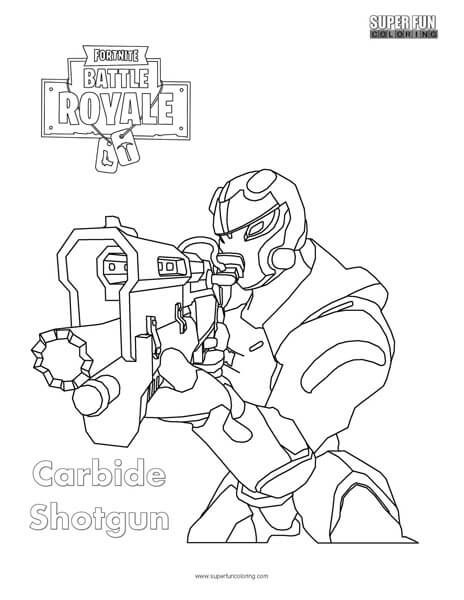 Fortnite Scar Coloring Pages