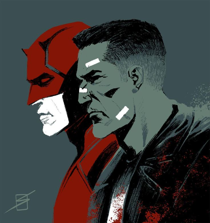 Daredevil/Punisher..if these two teamed up with Elektra and kept it that way they would be unstoppable..without a doubt! #badass #powerful #unite