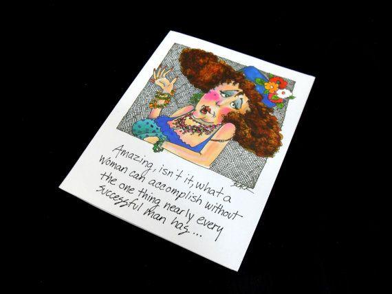 Vintage Card Humor Strange Friendship Greeting Card by InsOddsOuts