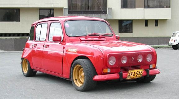 Renault R4 slightly customized