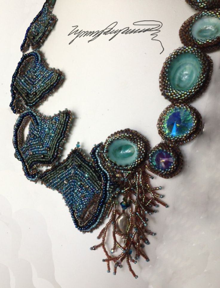 https://www.etsy.com/shop/LynnParpard?ref=pr_shop_more One of a Kind Art piece made one bead at a time a MUST see !