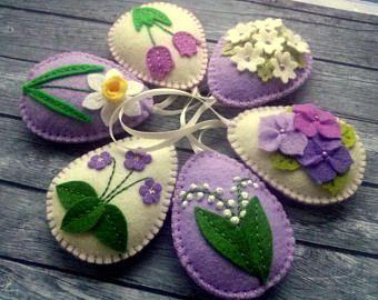 Ornamenti di Pasqua baby blue feltro decorazione di Pasqua