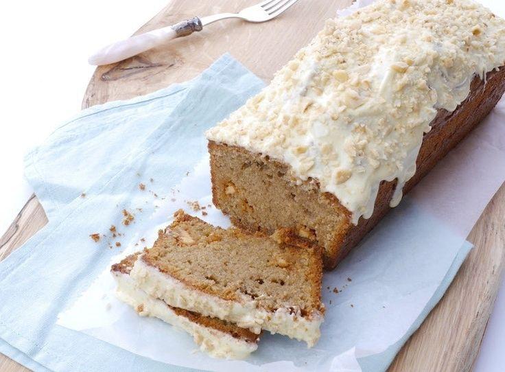 Sinner sunday: cake met mokkapoeder en witte chocolade erin én erop.