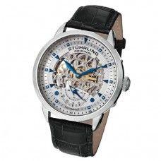 Relógio Masculino Automático de pulso pulseira de couro Stuhrling Original cod13333152
