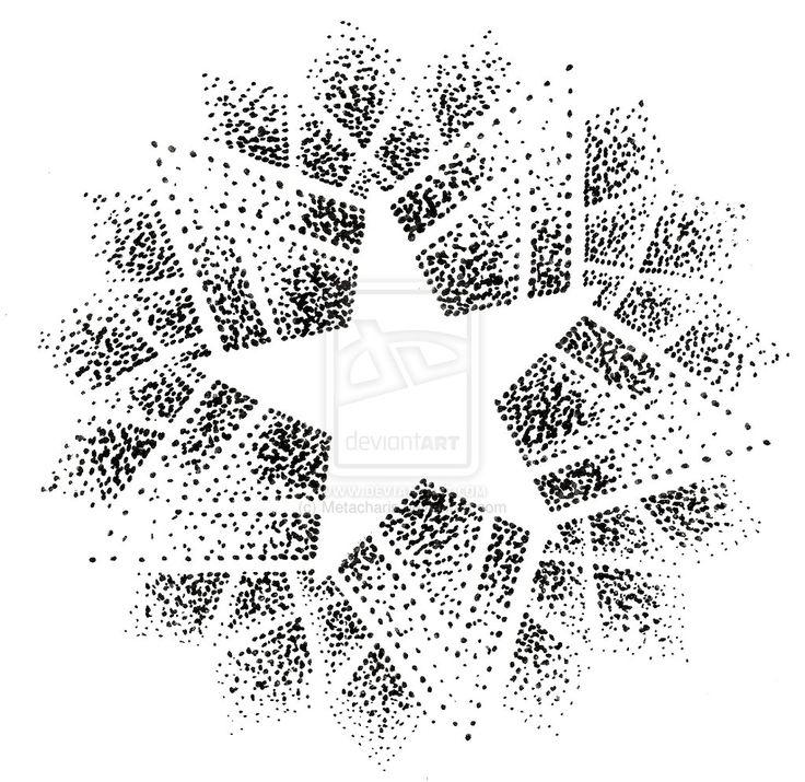 Pointillism Star Mandala Tattoo by ~Metacharis on deviantART