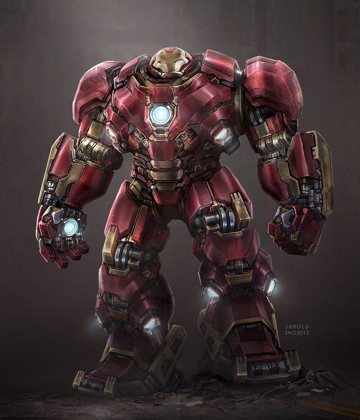 Hulkbuster Digital Art Avengers Character Drawings Fan Art Games Iron Man Movies & TV Paintings & Airbrushing Superhero
