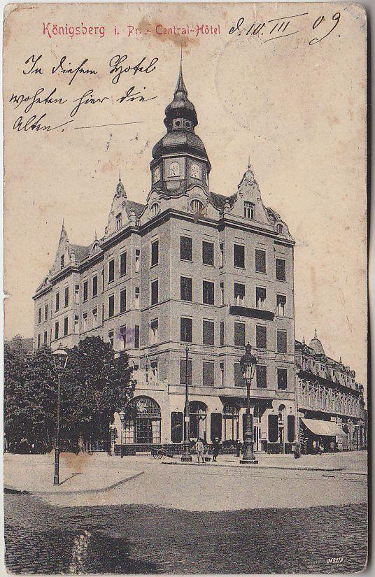 Russia, Russland, Königsberg, Hotel, PPC pre 1917