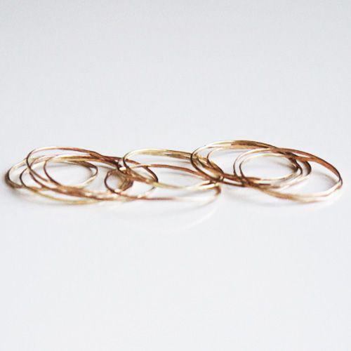 rosa guld ringe/ rose gold rings
