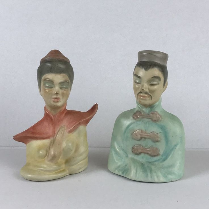 MCM Asian Chinese Man Woman Bust VTG Ceramic Mid Century Modern | Collectibles, Decorative Collectibles, Figurines | eBay!