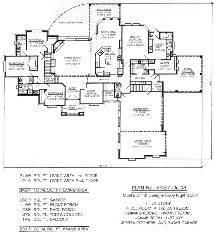 3437-0604 House Plan Design Online, Texas and Hawaii Offices