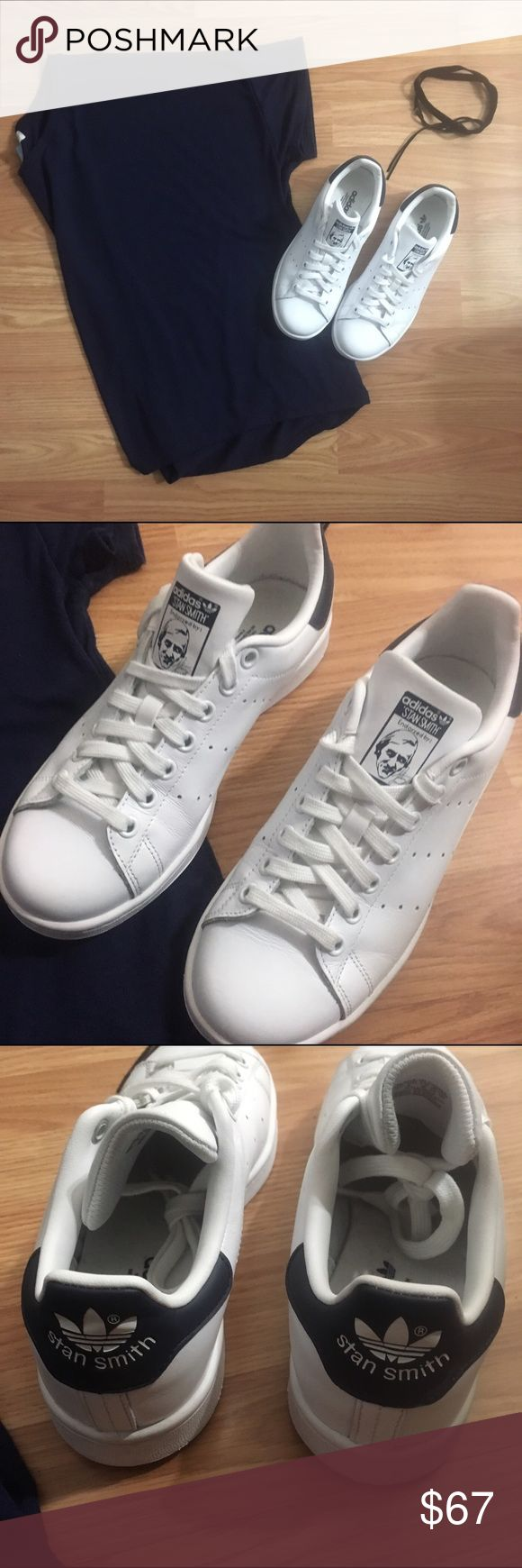 Adidas Stan Smith Shoes Navy Blue and White Adidas Stan Smith Shoes • Men's 5.5 • Women's 7.5 Adidas Shoes Sneakers