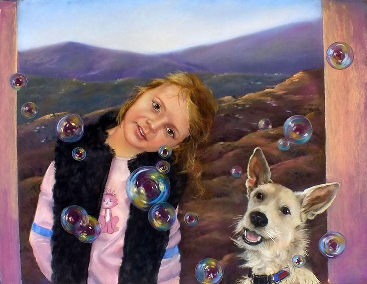 pastel portrait; 'Thorie's Magic'. 25 x 19 inches.