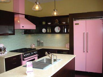 Viking Pink Kitchen - Contemporary - Kitchen - cleveland - by Snow .