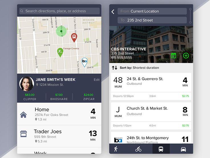 Transportation System App Concept by Derek Larsen