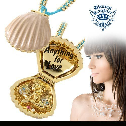disney couture little mermaid shell necklace disney resort