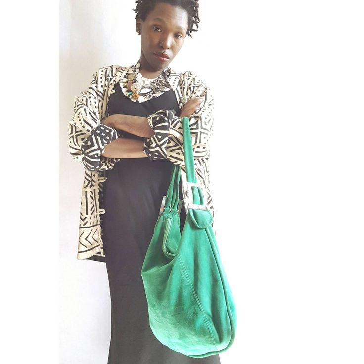 Suede Leather Hobo Bag, Vintage Handbags, Womens, Green Suede, Leather Hobo Bag, Silver hardware, Gifts, Boho, Hipster, Purses, Gifts, Denim