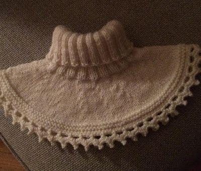 Hekle og strikke galskapen :): Oppskrift på strikket hals :)