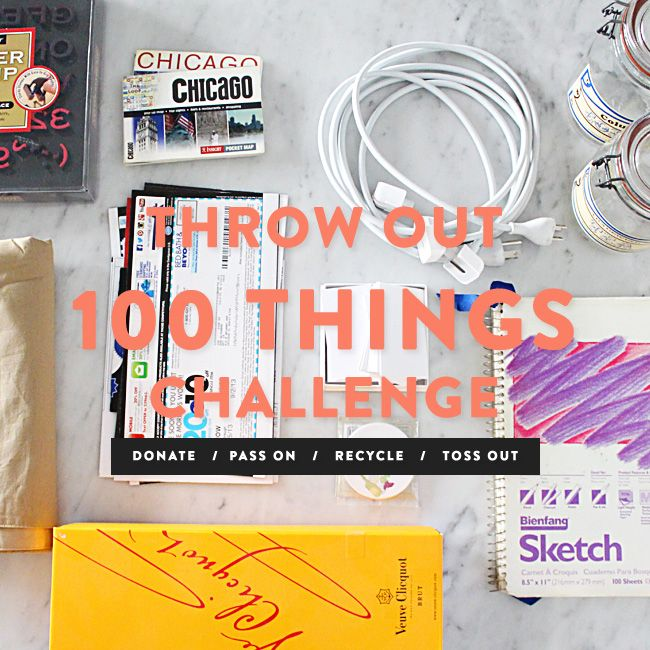 Throw Out 100 Things Challenge {Refreshing + Therapeutic} - Danielle Zeigler #declutter #donate #cleaningtips