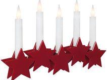 Fensterleuchter Weihnachtspyramide Sterne