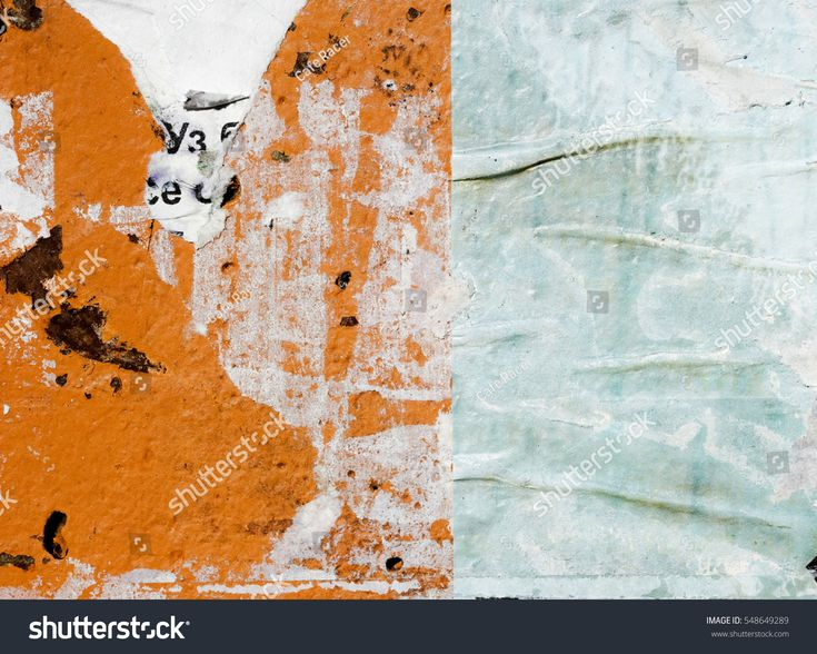 Old grunge ripped torn vintage collage posters / Creased crumpled paper surface texture background
