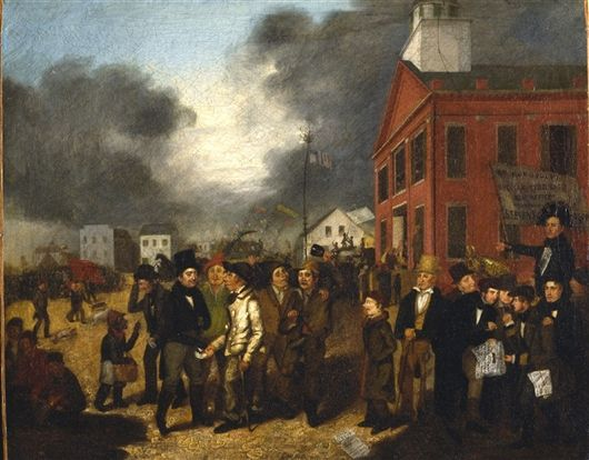 First State Election in Detroit, Michigan, 1837 Thomas Mickell Burnham (American, 1818-1866)