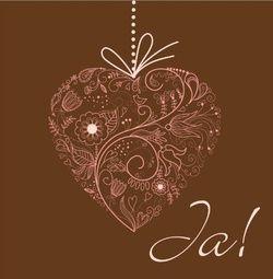 Trouwkaart artistiek roze hart gemaakt van getekende bloemen. Kies de kaart, pas de tekst aan en vraag een gratis proefdruk op (je betaalt zelfs geen verzendkosten!). http://www.trouwpost.nl/trouwkaarten/hartjes/
