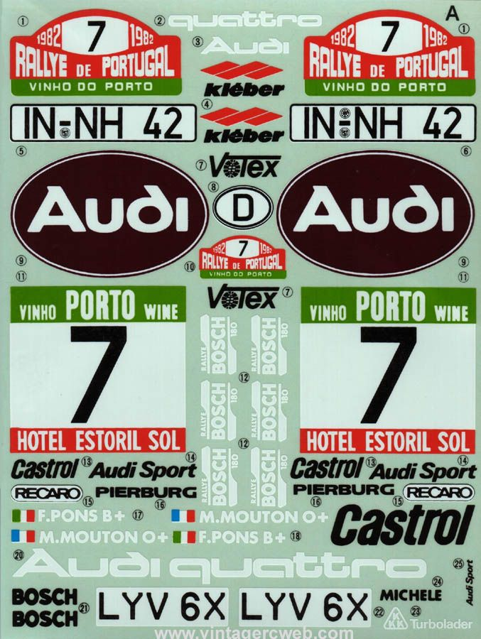 Audi Quattro decals - Portugal Rally - WRC | Models with ...