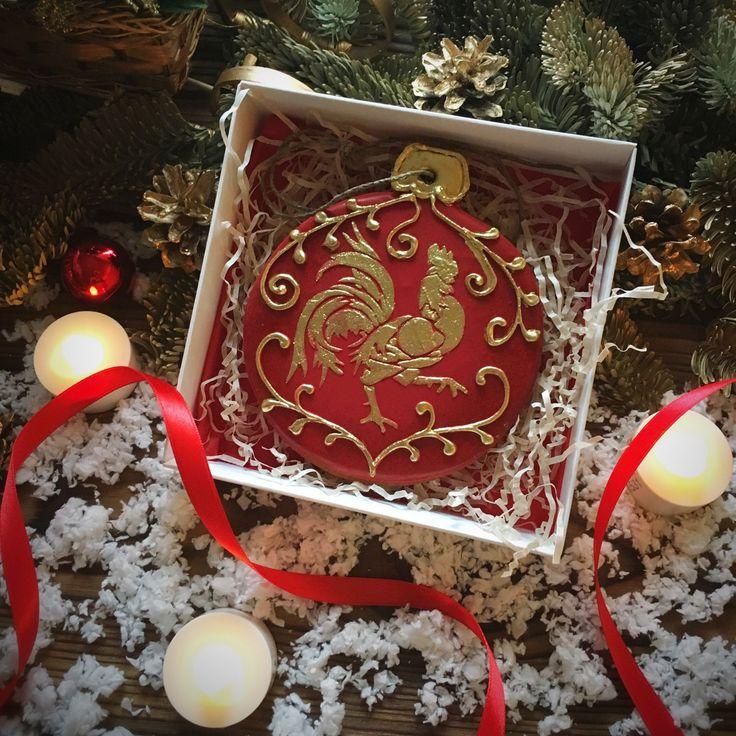 """Купить Пряники. Новогодний набор N10 """"Елочный шар"""" - Новый Год, новый год 2017, мишка"""
