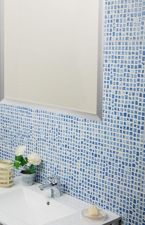 El color azul siempre es un acierto para cualquier ba o - Ceramica leroy merlin ...