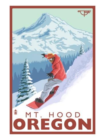 Snowboarding Mt. Hood