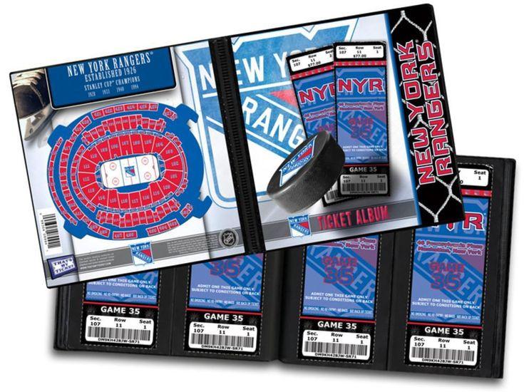 Ticket Album NHL - New York Rangers (Holds 96 Tickets)