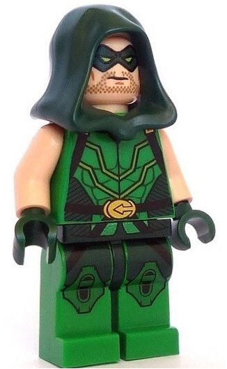 Green Arrow (alias Oliver Queen) is a Super Heroes minifigure. He first appeared on portable versions of LEGO Batman 2: DC Super Heroes, but was later made physically available, although in extremely limited quantities, as a Comic-Con exclusive giveaway. He then appeared as a playable character in LEGO Batman 3: Beyond Gotham and the 76028 Darkseid Invasion set. Green Arrow has made an appearance in the The LEGO Batman Movie Green Arrow wears a tight, mostly green tunic. At the sides of…