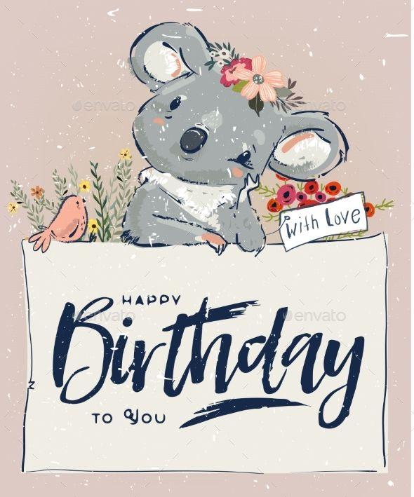 Little Birthday Koala Birthday Koala Happy Birthday Greetings Happy Birthday Art Happy Birthday Wishes Cards