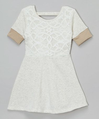 Cream Lace Dress - Girls by Hello Gorgeous #zulily #zulilyfinds