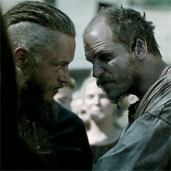 There they go, playing the staring game again. Lol... :P #Vikings #HistoryChannel
