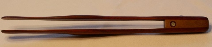 Handcrafted Padauk Tongs with Inlay