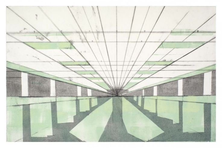 Basement I (2012). Monotype with drypoint